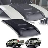 Hood Scoop Bonnet Matt Matte Black For Mitsubishi Triton L200 MN ML MQ 15 16 17