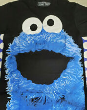 New Licensed Sesame Street Big Cookie Monster Face T-Shirt Adult S-2XL