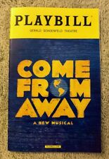 Come From Away playbill - *Brand New!* - Free shipping, goes out same day!