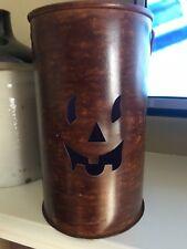 HALLOWEEN  Pumpkin Candle Holder METAL