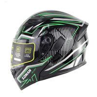DOT Double Visor Motorbike Flip Up Modular Helmet Motorcycle Full Face Helmets