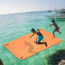 """Portable 12'x6'x1.4"""" Floating Water Pad 3-Layer XPE Foam Roll-Up Floating Mat"""