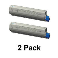 2 Pk Okidata C831dn MC873dn MC873dnx C831n MC873dnc Bk Toner Cartridge 44844512