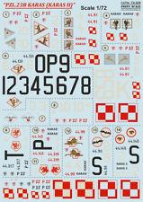 Escala de impresión calcomanías 1/72 PZL P.23B Karas # 72305