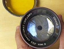 Beautiful Taylor & Hobson Anastigmat 4Inch F2.8 Lens Can Use in Digital camera
