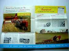 Rare Massey Harris 101 Tractor Literature 1940's Era