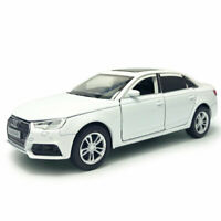 Audi A4 1:32 Model Car Metal Diecast Toy Vehicle Kids Collection Gift White