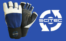 Guanto palestra Scitec con polsiera Blue Power weight lifting gloves