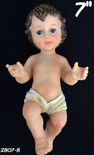 "Baby Jesus Nino Dios 7"" Inch Statue Religious Figure Nacimiento Baby"