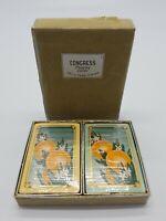 Vintage Congress Playing Cards Oranges Dual Decks Brand New Original Velvet Box