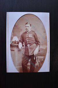 Military Photo Print Durham Light Infantry Regiment Officer with Cocked Hat