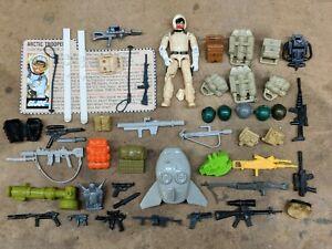 GI Joe action figure accessory gun backpack lot 2, Snow job Spirit Tomax Cobra