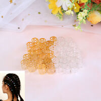 20Pcs Hair Braid Beads Dreadlock Cuff Clip Adjustable Buckle Metal Silver/G YAN