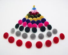 Velvet fabric Buttons 15mm. Garment accessories Toys School Party Craft Gift