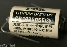 Brand New Sanyo FDK CR14250SE 3V Lithium Battery w/ Solder Pins,  Japan Made