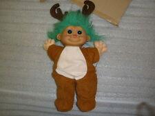 "Vintage Russ Berrie Troll Doll ~ Christmas Rudolph The Reindeer Troll 16"" Tall"