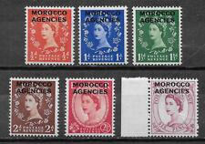 Morocco , Great Britain , 1952/55 , Elizabeth Ii , Set Of 6, Mnh