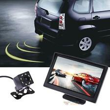 "5"" TFT LCD HD Car RearView Backup Monitor+Wireless Parking Night Vision Camera"