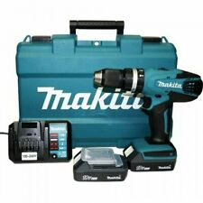 Trapano avvitatore a percussione Makita HP457DWE + 2 Batterie 1,3 Ah 18 V