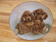 RETIRED RARE Danbury Mint DACHSHUND Doxie Puppy Dog Limited Edition Plate + COA