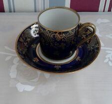 Mokka-Tasse Made in GbR - Kobalt Porzellan mit Goldverzierung