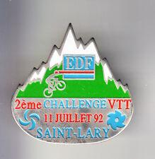 RARE PINS PIN'S .. EDF GDF BARRAGE ST LARY VTT VELO CYCLISME CYCLING 92  ~BS