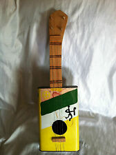 HAND HOME MADE COOKING OIL CAN 4-STRING GUITAR BANJOLIN FOLK ART HAND MADE/PAINT