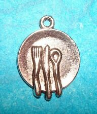Pendant Dishes Charm Plate Charm Silverware Charm Waitress Charm Cooking Chef