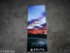 DELTA AIR LINES - BOEING 717 POSTER OVER NEW YORK -  POSTER 26 x 10 - NEW