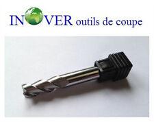 8mm Fraise Carbure 3 Lèvres H40° Queue 8mm Spéciale pour Aluminium