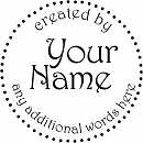 UNMOUNTED PERSONALIZED CREATED BY CUSTOM RUBBER STAMPS C106