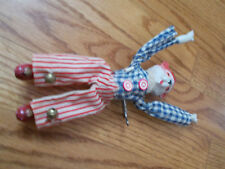 Vintage Mechanical Wind up Circus  Clown Tumbler Toy Bear or cat windup WORKS