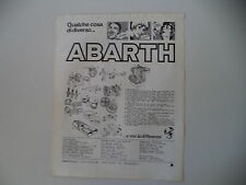 advertising Pubblicità 1976 ABARTH