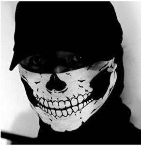 1X  Skull Face Mask Ghost Neck Warmer Biker Costume Bikie Bandana Halloween