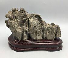 Natural polished Viewing stone suiseki-scholar rock Ying stone Rough Decor