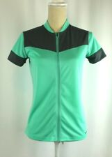 Patagonia Womens M Full Zip Short Sleeve Back Pockets Cycling Green Jersey 01ff90873
