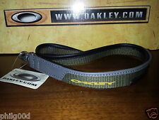 Oakley Lanyard PANELED LEATHER Keychain Rare SI ELITE TACTICAL MILITARY OLIVE
