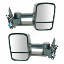 Side View Mirrors Power Heated Smoke Signal Towing Pair Set for 03-07 Chevy GMC