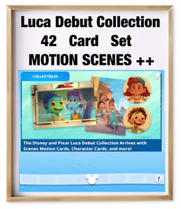 LUCA DEBUT COLLECTION-42 CARD SET-MOTION/SCENES/CHARACTERS-TOPPS DISNEY COLLECT