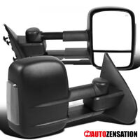 For 2014-2018 Silverado Sierra 1500 Extend Power Heated Tow Mirrors+LED Lights