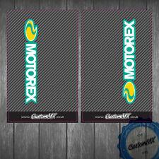 KTM HUSQVARNA Superior Horquilla De Carbono Suzuki Etc Gráficos Pegatinas Calcomanías Motorex logotipo