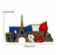 Paris' Landmarks France Tourist Travel Souvenir  Metal Fridge Magnets Gift 3.1""