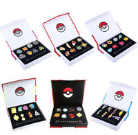 Pokemon Gym Badges Kanto Johto Hoenn Sinnoh Unova Kalos League Pins 6 Sets Box