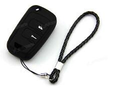 Black Silicone Case Cover For Chevrolet Epica Tosca Holden Aveo Remote Flip Key