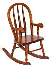 Amish Furniture - Heirloom Child's Oak Bent Feather Rocker - Made in USA
