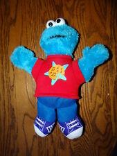 "Sesame Street Let's Rock Singing Cookie Monster Plush Stuffed Animal  12"""