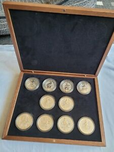 Royal Mint 2oz Queens Beasts Boxed Silver Set - Beautiful