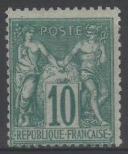 "FRANCE STAMP TIMBRE N° 65 "" SAGE 10c VERT TYPE I 1876 "" NEUF x TB   N882"