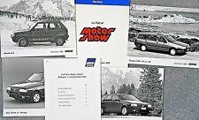 Fiat Panda 4x4 SISLEY Uno Ie Racing 16 V Press Kit Pack photo X 4 1990