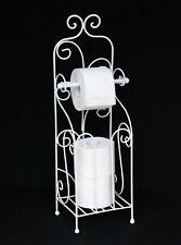 Porta carta igienica ANTICO BIANCO METALLO hx13608 Portarotolo WC indipendente